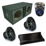 "Kicker Car Stereo Loaded Dual 12"" Ported CVX12 Comp VX Subwoofer Enclosure Sub box with ZX15..."