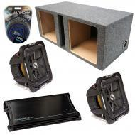 "Kicker Car Audio Loaded Dual 15"" Square Ported S15L7 L7 Subwoofer Enclosure Sub box with ZX1..."