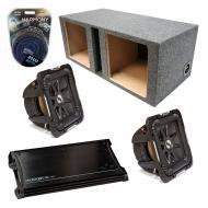 "Kicker Car Audio Loaded Dual 10"" Square Ported S10L7 L7 Subwoofer Enclosure Sub box with ZX1..."