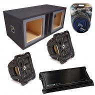 "Kicker Car Stereo Loaded Dual 10"" Square Custom S10L7 L7 Vented Subwoofer Enclosure Sub box ..."