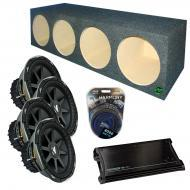 "Kicker Car Audio Loaded Quad 12"" Sealed CVX12 Comp VX Subwoofer Enclosure Sub box with ZX150..."