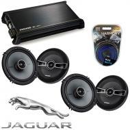 Jaguar X-Type 2001-2008 OEM Speaker Replacement Kicker (2) KSC65 & DX400.4 Amp