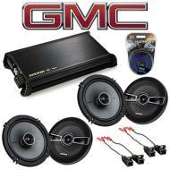 GMC Canyon 2004-2012 Factory Speaker Replacement Kicker (2) KSC65 & DX400.4 Amp