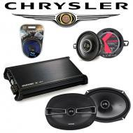 Chrysler New Yorker 94-96 OEM Speaker Upgrade Kicker KSC35 KSC69 & DX400.4 Amp