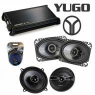 Yugo GV/GVX 1986-1990 OEM Speaker Replacement Kicker KSC5 KSC46 & DX400.4 Amp