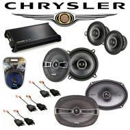 Chrysler New Yorker 84-93 OEM Speaker Upgrade Kicker KS Package & DX400.4 Amp