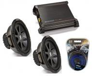 """Kicker Car Stereo 12"""" Sub Package CVR12 Dual 2 Ohm Subwoofer Pair, DX500.1 Amp & Install..."""