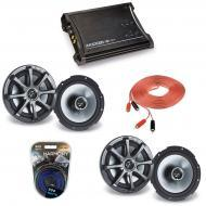 "Kicker Car Audio (2) KS650 Full Range 6.5"" Speaker Pairs with ZX350.4 Amplifier & 8GA Am..."