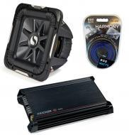 """Kicker Car Stereo 12"""" Sub Package 2011 S12L7 Dual 2 Ohm Subwoofer, DX300.2 Amp & Install..."""