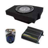 "Dodge Ram Quad Cab 02-12 10"" Amplified Kicker CVT10 Sub Box W/ CX600.1 & 8 Gauge Amp Kit"