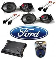 Ford F150 Regular Cab 00-12 Truck Kicker Factory 5x7 6x8 Coaxial Speaker Replacement (2) KS68 Pac...