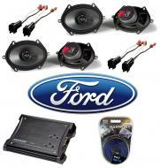 Ford F250/F350 Extended Cab 00-12 Truck Kicker Factory 5x7 6x8 Coaxial Speaker Replacement (2) KS...