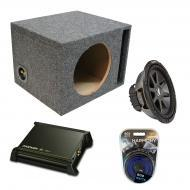 "Kicker Car Audio Loaded Single 10"" Ported CVR10 Comp VR Subwoofer Enclosure Sub box with DX2..."