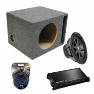 "Kicker Car Audio Loaded Single 10"" Ported CVR10 Comp VR Subwoofer Enclosure Sub box with DX4..."