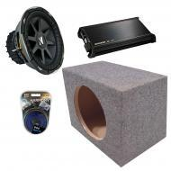 "Kicker Car Stereo Loaded Single 10"" Sealed CVX10 Comp VX Subwoofer Enclosure Sub box with DX..."