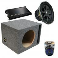 "Kicker Car Audio Loaded Single 10"" Ported CVX10 Comp VX Subwoofer Enclosure Sub box with DX4..."