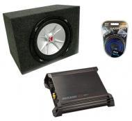 "Kicker CVR15 15"" CVR Subwoofer Box W/ DX500.1 Amplifier & 8 Gauge Kit"