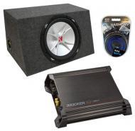 "Kicker CVR15 15"" Sealed Sub Box W/ DX500.1 Amplifier"