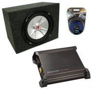 "Kicker CVR15 15"" CVR Subwoofer Box W/ DX500.1 Amplifier"