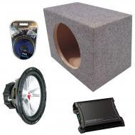 "Kicker Car Stereo Loaded Single 15"" Sealed 07CVR15 Comp VR Subwoofer Enclosure Sub box with ..."