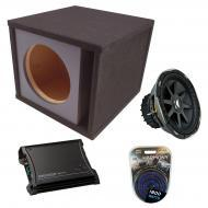 "Kicker Car Stereo Loaded Single 12"" CVX12 Comp VX Vented Subwoofer Enclosure Sub Box with ZX..."