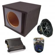 "Kicker Car Stereo Loaded Single 12"" CVX12 Comp VX Vented Subwoofer Enclosure Sub Box with DX..."