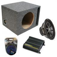 """Kicker Car Stereo Loaded Single 12"""" Ported CVR12 Comp VR Subwoofer Enclosure Sub box with CX..."""