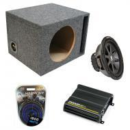 "Kicker Car Stereo Loaded Single 10"" Ported CVR10 Comp VR Subwoofer Enclosure Sub box with CX..."