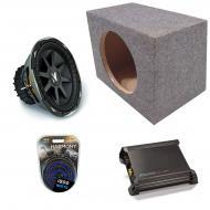 "Kicker Car Audio Loaded Single 10"" Sealed CVX10 Comp VX Subwoofer Enclosure Sub box with DX5..."