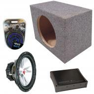 "Kicker Car Stereo Loaded Single 15"" Sealed CVR15 Comp VR Subwoofer Enclosure Sub box with DX..."