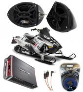 "Polaris Snowmobile Rockford R152 &  PBR300X4 Amp 5 1/4"" Speaker Pod System"