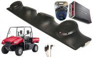 "Honda Big Red Rockford R152 & PBR300X4 Amp Quad (4) 5 1/4"" Speakers UTV Pod System"