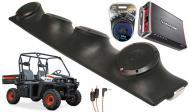 "Bobcat 3400 Rockford R152 & PBR300X4 Amp Quad (4) 5 1/4"" Speakers UTV Pod System"