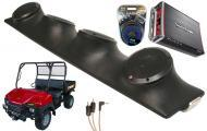 "Bush Hog Trail Hand Rockford R152 & PBR300X4 Amp Quad (4) 5 1/4"" Speakers UTV Pod System"
