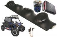 "Heathen V Twin Rockford R152 & PBR300X4 Amp Quad (4) 5 1/4"" Speakers UTV Pod System"