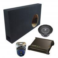 "Ford F150 Extended Cab 04-06 Ported 10"" Powered Kicker CVT10 Sub Box W/ DX250.1 & Amp Kit"