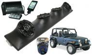 Jeep Wrangler YJ TJ JK Powered Kicker DSC5 & PXI50.2 iPhone Controlled Amp Quad (4) 5 1/4&quo...