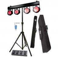 American DJ DOTZ TPAR SYS All-In-One LED Par Wash 4-Head T-Bar Light System - Limited Quanities!