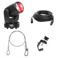 American DJ Inno Beam LED Moving Head w/ Clamp, Safety Harness & 500ft DMX Cable