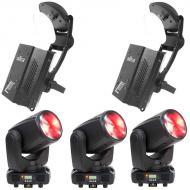 American DJ (3) Inno Beam LED Moving Head Fixtures with LX-10 Moonflower Effects
