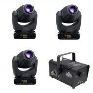 American DJ (3) Inno Spot Pro LED Moving Head Fixtures with Hurricane 700 Fogger