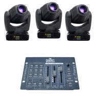 American DJ (3) Inno Spot Pro LED Moving Head Fixtures w/ Obey 3 DMX Controller