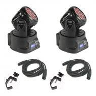 Blizzard (2) Flurry 5 Moving Head Fixture Pack w/ (2) 15Ft DMX Cable & (2) Clamp
