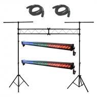 Blizzard (2) ToughSTORM 252 Linear Wash Pack w/ Truss Stand & (2) 15' DMX Cables