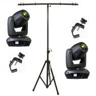 Elation (2) Platinum Spot 5R Moving Head Light w/ Tripod Stand & 2 Truss Clamps