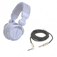 American DJ HP550 Snow Over-Ear Headphones with 15-Foot Active Speaker/Mic Cable