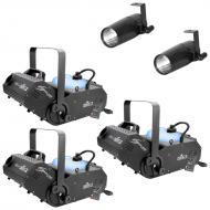 Chauvet (3) H1800FLEX Hurricane 1800 Flex Fog Machine w/ (2) 3-Watt LED Pinspots