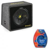 "Kicker VCWS12 12"" Single Sub Box Loaded Enclosure with 300 Watt Amplifier Kit"