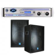"Peavey IPR DSP 7500 3750 Watts Power Amplifier w/ (2) 12"" DJ PA Speaker System"