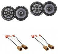 "Nissan Sentra 1995-2006 Kicker Factory 6 1/2"" Coaxial Speaker Replacement (2) KS65 Package New"